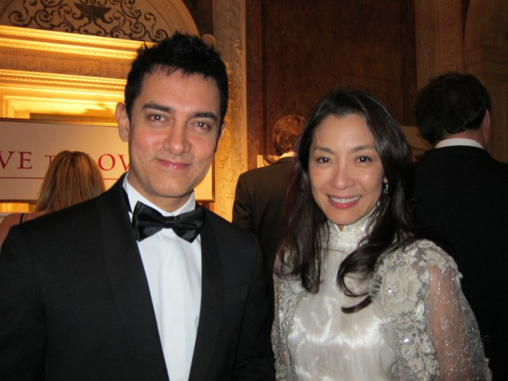 Aamir Khan (acteur de Bollywood) et Michelle Yeoh (actrice internationale)